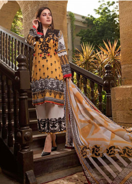 Sifona Embroidered Lawn Unstitched 3 Piece Suit SF20ML 05 - Luxury Collection