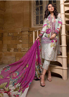Sifona Embroidered Lawn Unstitched 3 Piece Suit SF20ML 07 - Luxury Collection