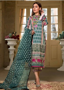 Sifona Embroidered Lawn Unstitched 3 Piece Suit SF20ML 08 - Luxury Collection