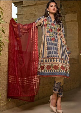 Sifona Embroidered Lawn Unstitched 3 Piece Suit SF20ML 09 - Luxury Collection