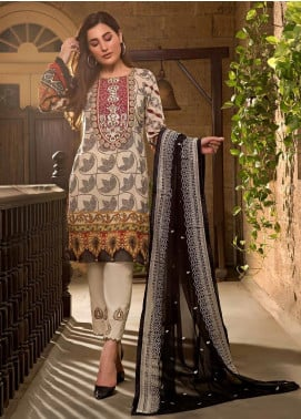 Sifona Embroidered Lawn Unstitched 3 Piece Suit SF20ML 10 - Luxury Collection
