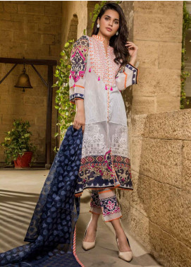 Sifona Embroidered Lawn Unstitched 3 Piece Suit SF20ML 11 - Luxury Collection