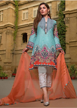 Sifona Embroidered Lawn Unstitched 3 Piece Suit SF20ML 12 - Luxury Collection