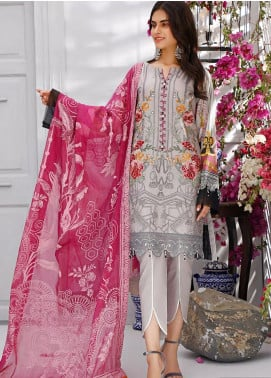 Sifona Embroidered Lawn Unstitched 3 Piece Suit SF20MJ SLL-03 - Luxury Collection