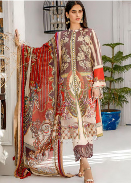 Sifona Embroidered Lawn Unstitched 3 Piece Suit SF20MJ SLL-04 - Luxury Collection