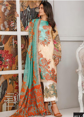 Sifona Embroidered Lawn Unstitched 3 Piece Suit SF20MJ SLL-06 - Luxury Collection