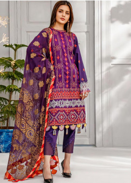 Sifona Embroidered Lawn Unstitched 3 Piece Suit SF20MJ SLL-09 - Luxury Collection