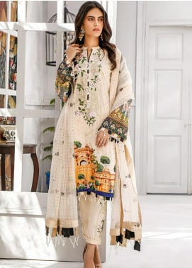 Sifona Embroidered Lawn Unstitched 3 Piece Suit SF20MJ SLL-10 - Luxury Collection