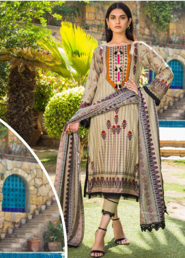 Signature Icon by ZS Textiles Printed Lawn Unstitched 3 Piece Suit ZS20SI 1A - Summer Collection