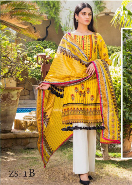 Signature Icon by ZS Textiles Printed Lawn Unstitched 3 Piece Suit ZS20SI 1B - Summer Collection