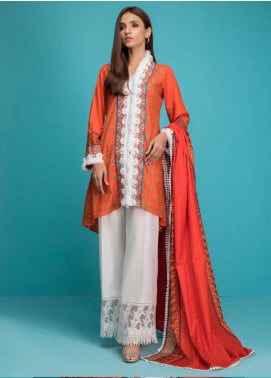 Signature Icon by ZS Textiles Printed Lawn Unstitched 3 Piece Suit ZS20SI 5B - Summer Collection