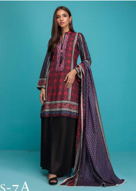 Signature Icon by ZS Textiles Printed Lawn Unstitched 3 Piece Suit ZS20SI 7A - Summer Collection