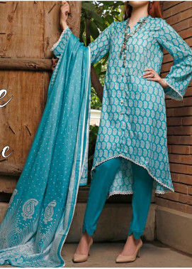 VS Textiles Printed Lawn Unstitched 3 Piece Suit VS20SL 201-B - Spring / Summer Collection