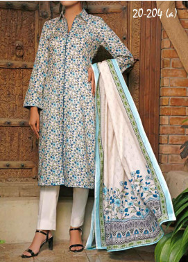 VS Textiles Printed Lawn Unstitched 3 Piece Suit VS20SL 204-A - Spring / Summer Collection