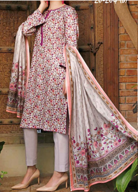 VS Textiles Printed Lawn Unstitched 3 Piece Suit VS20SL 204-B - Spring / Summer Collection