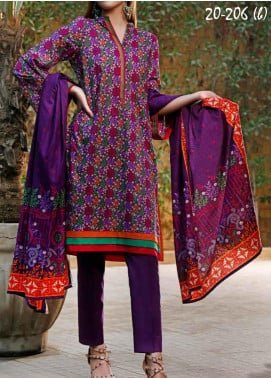VS Textiles Printed Lawn Unstitched 3 Piece Suit VS20SL 206-B - Spring / Summer Collection