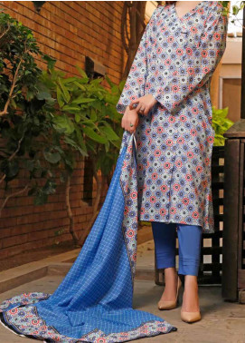 VS Textiles Printed Lawn Unstitched 3 Piece Suit VS20SL 208-B - Spring / Summer Collection