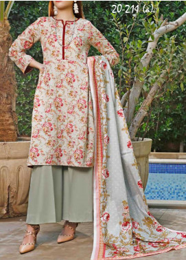 VS Textiles Printed Lawn Unstitched 3 Piece Suit VS20SL 211-A - Spring / Summer Collection