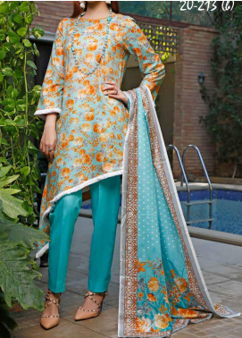 VS Textiles Printed Lawn Unstitched 3 Piece Suit VS20SL 213-B - Spring / Summer Collection