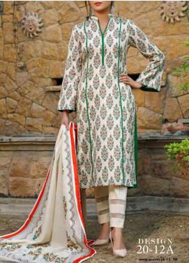 VS Textiles Printed Lawn Unstitched 3 Piece Suit VS20-SL2 12A - Summer Collection