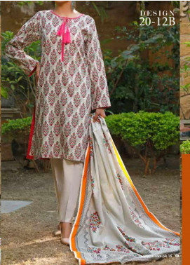 VS Textiles Printed Lawn Unstitched 3 Piece Suit VS20-SL2 12B - Summer Collection