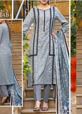 VS Textiles Printed Lawn Unstitched 3 Piece Suit VS20-SL2 14B - Summer Collection