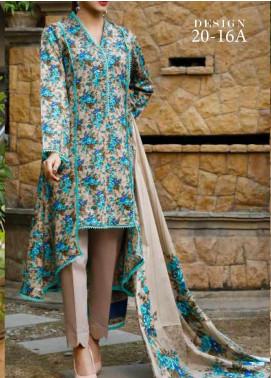 VS Textiles Printed Lawn Unstitched 3 Piece Suit VS20-SL2 16A - Summer Collection