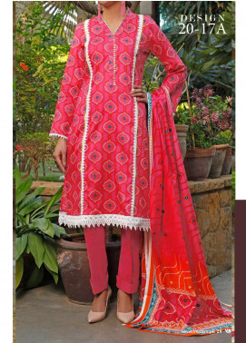 VS Textiles Printed Lawn Unstitched 3 Piece Suit VS20-SL2 17A - Summer Collection