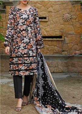 VS Textiles Printed Lawn Unstitched 3 Piece Suit VS20-SL2 18B - Summer Collection