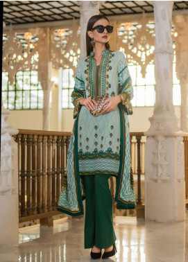 Summerina By LSM Embroidered Lawn Unstitched 3 Piece Suit SMR18L 12A - Spring / Summer Collection