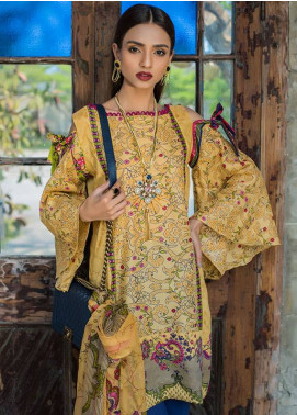 Summerina By LSM Embroidered Lawn Unstitched 3 Piece Suit SMR18L 5A - Spring / Summer Collection
