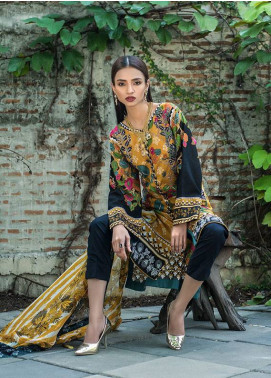 Summerina By LSM Embroidered Lawn Unstitched 3 Piece Suit SMR18L 6A - Spring / Summer Collection