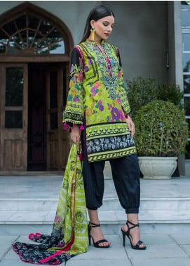 Summerina By LSM Embroidered Lawn Unstitched 3 Piece Suit SMR18L 6B - Spring / Summer Collection