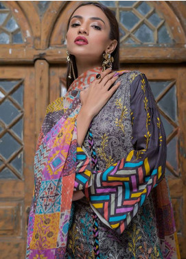 Summerina By LSM Embroidered Lawn Unstitched 3 Piece Suit SMR18L 9A - Spring / Summer Collection
