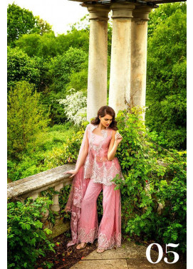 Sobia Nazir Embroidered Chiffon Unstitched 3 Piece Suit SN17E 05