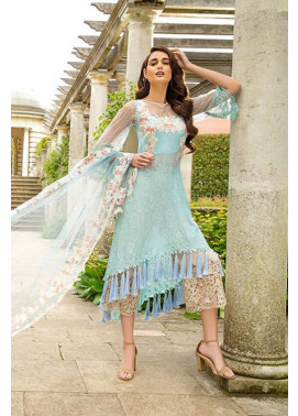 Sobia Nazir Embroidered Chiffon Unstitched 3 Piece Suit SN17E 09