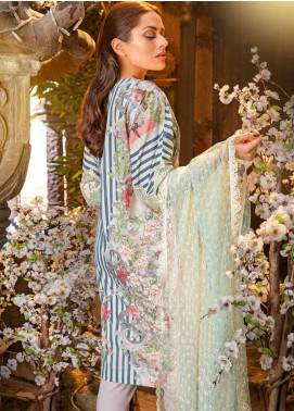 Sobia Nazir Embroidered Lawn Unstitched 3 Piece Suit SN18-L2 6B - Festive Collection
