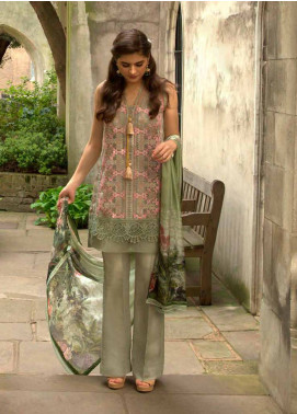 Sobia Nazir Embroidered Chiffon Unstitched 3 Piece Suit SN18E 3B - Eid Collection