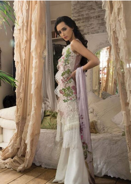 Sobia Nazir Embroidered Lawn Unstitched 3 Piece Suit SN18L 8B - Spring / Summer Collection
