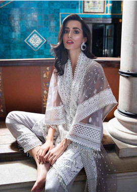 Sobia Nazir Embroidered Zari Net Unstitched 3 Piece Suit SN19-E2 2B - Festive Collection