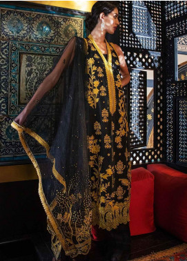 Sobia Nazir Embroidered Zari Net Unstitched 3 Piece Suit SN19-E2 7A - Festive Collection