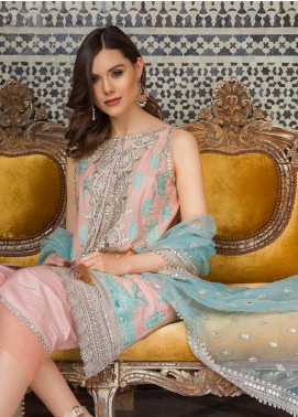 Sobia Nazir Embroidered Lawn Unstitched 3 Piece Suit L20SN 10-B PEACH - Luxury Collection