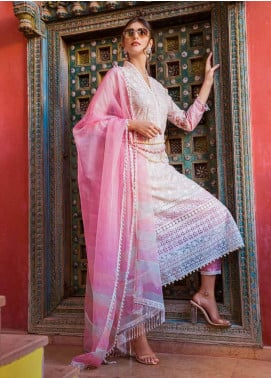 Sobia Nazir Embroidered Lawn Unstitched 3 Piece Suit L20SN 12-B PINK - Luxury Collection