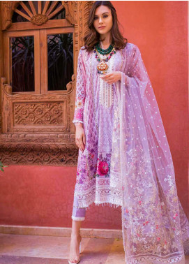 Sobia Nazir Embroidered Lawn Unstitched 3 Piece Suit L20SN 13-B PURPLE - Luxury Collection