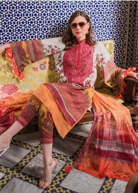 Sobia Nazir Embroidered Lawn Unstitched 3 Piece Suit L20SN 14-B YELLOW - Luxury Collection