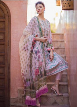 Sobia Nazir Embroidered Lawn Unstitched 3 Piece Suit L20SN 3-A PINK - Luxury Collection