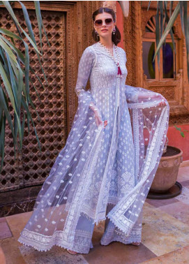 Sobia Nazir Embroidered Lawn Unstitched 3 Piece Suit L20SN 5-B BLUE - Luxury Collection
