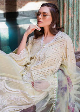Sobia Nazir Embroidered Lawn Unstitched 3 Piece Suit L20SN 8-B LIGHT GREEN - Luxury Collection