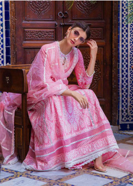 Sobia Nazir Embroidered Lawn Unstitched 3 Piece Suit L20SN 9-A PINK - Luxury Collection