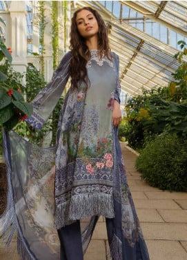 Sobia Nazir Embroidered Lawn Unstitched 3 Piece Suit SN19L 15A - Spring / Summer Collection
